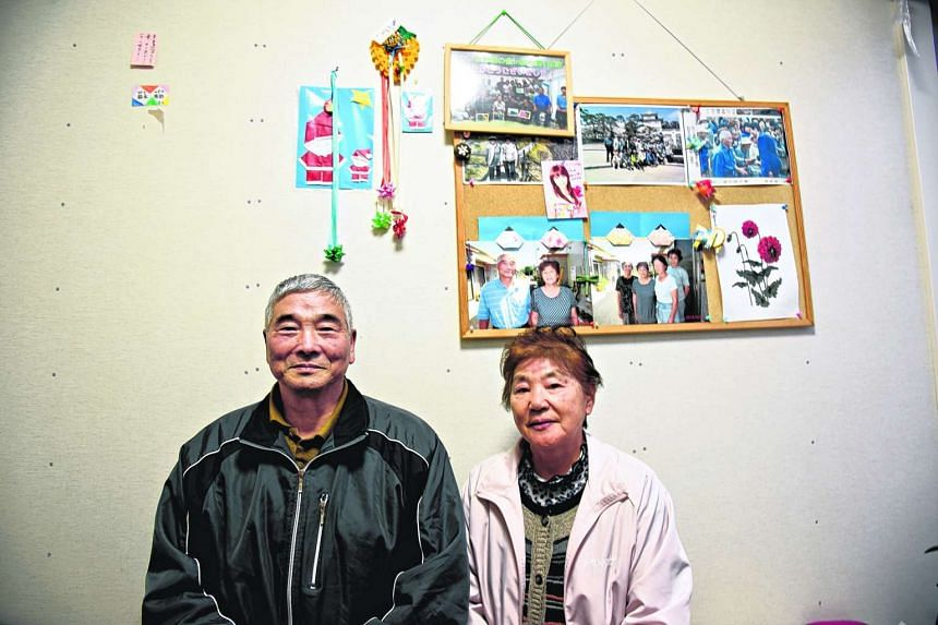 Mr Hideji Suzuki, 78, and Mrs Toshiko Suzuki, 72, evacuees from Iitate village in Fukushima prefecture, Japan.