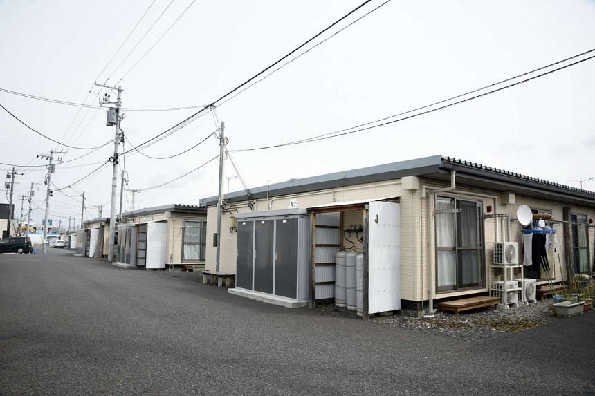 Temporary housing in Koriyama city.