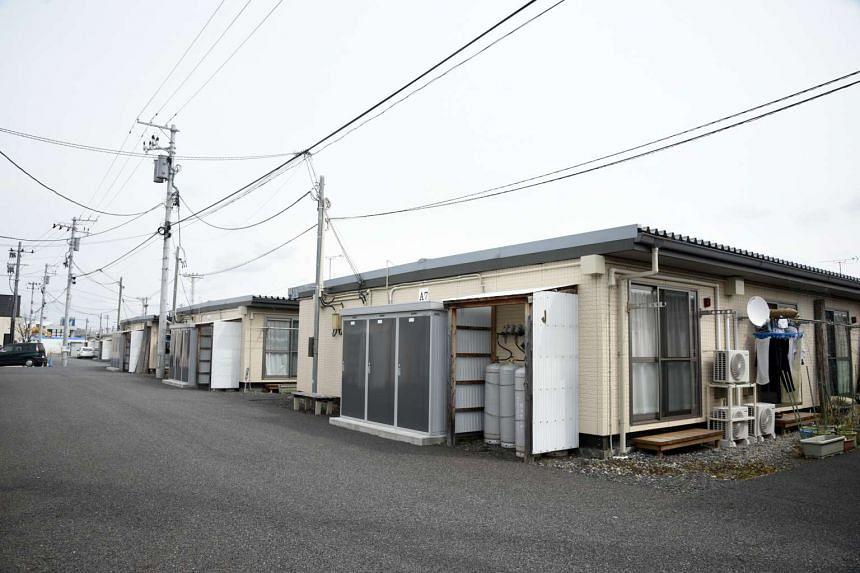 Temporary housing in Koriyama city.