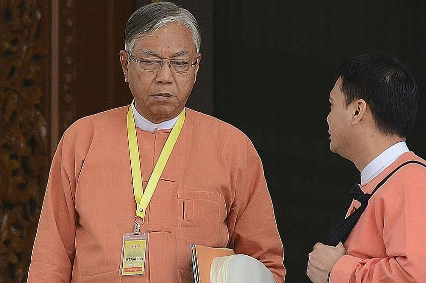 """On Thursday, Mr Htin Kyaw will be Myanmar's first civilian president since 1962. He has been in Ms Suu Kyi's inner circle for decades and is described as having """"unimpeachable integrity"""" and """"wise""""."""