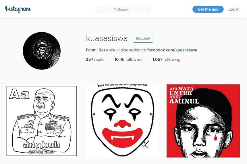 Fahmi Reza's Instagram account.