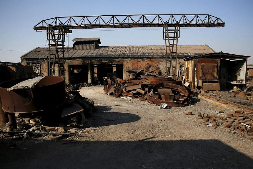 A closed steel foundry in Tangshan, China, on Feb 27, 2016.