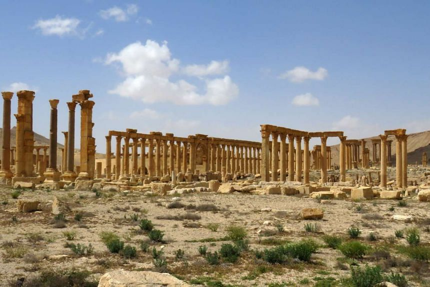 Part of the ancient city of Palmyra, after government troops recaptured the site from ISIS on March 27, 2016.