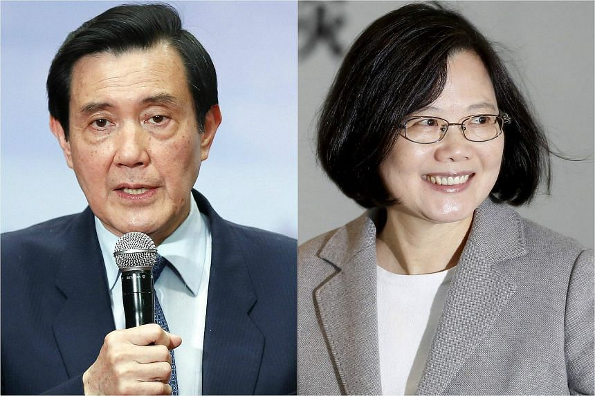 President Ma Ying-jeou (left) and President-elect Tsai Ing-wen will discuss the transfer of power and cross-strait ties in a meeting on Wednesday (March 30).