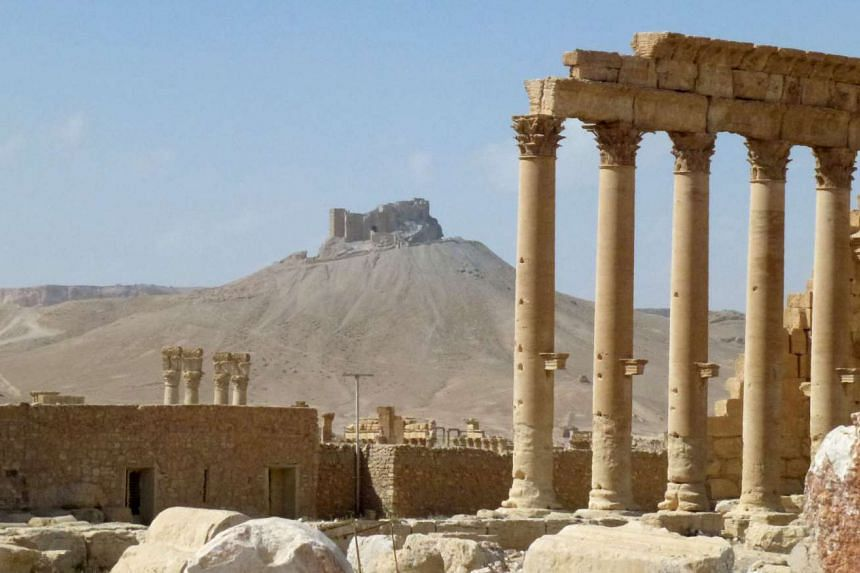A photo taken on Sunday (March 27) shows part of the ancient city of Palmyra with the citadel in the background, after government troops recaptured the historic city from ISIS.