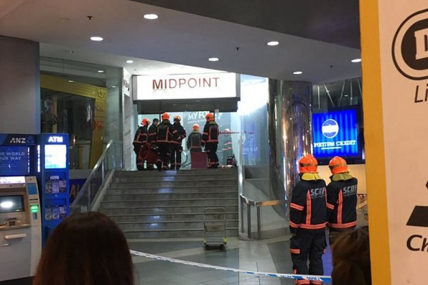 SCDF personnel at Midpoint Orchard.