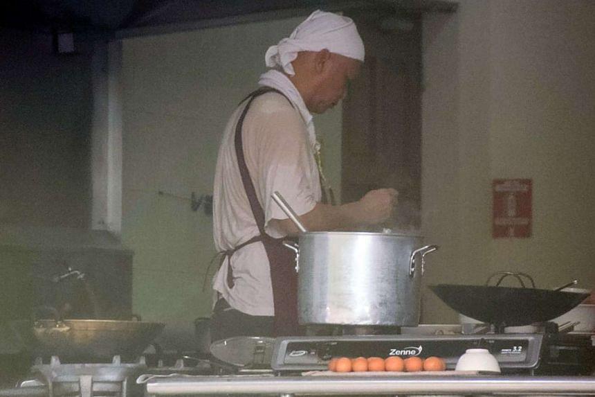 Xie Shaoguang resumed his job as a chef at Three O Cafe in Johor Baru.