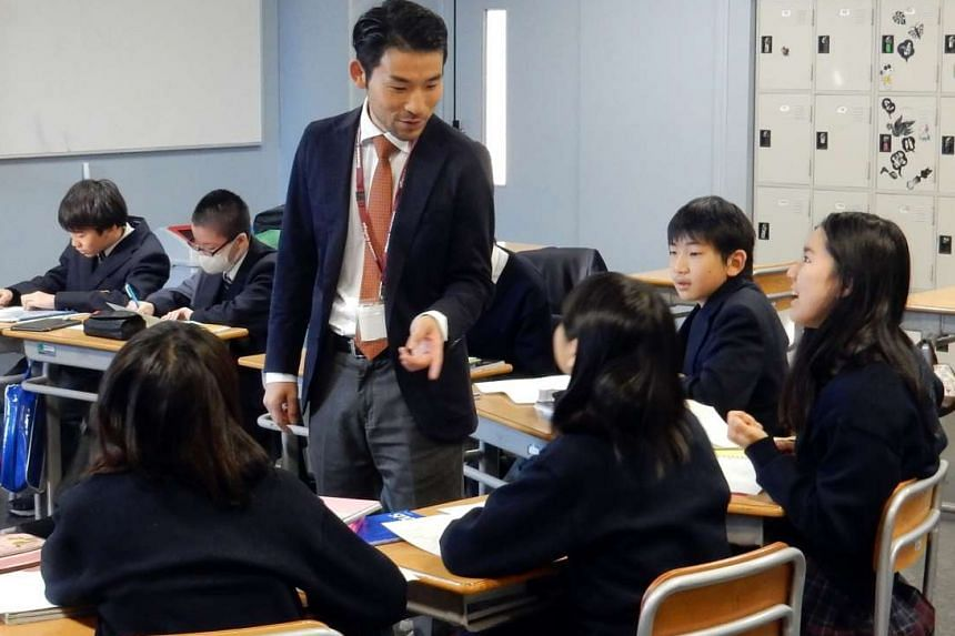 Mr Takahashi said students who are not good with language can use Lego bricks to express what and how they think.