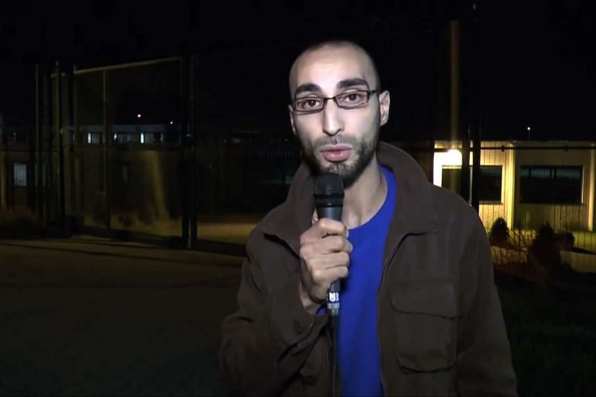 Faycal Cheffou, who was released on Monday, speaking in a video posted on YouTube in 2014.
