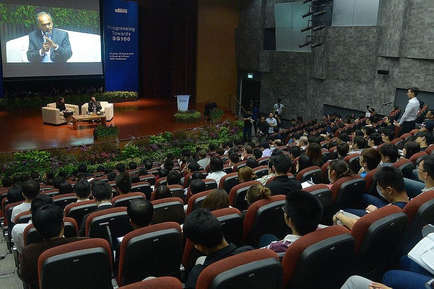 Mr Shanmugam answered questions on a range of issues from students at the forum in Nanyang Technological University yesterday. He also struck a positive note, saying that there are opportunities for Singapore amid the challenges, such as those offere