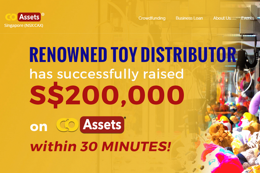 The toy manufacturer's project hit its targeted amount of S$200,000 in less than half an hour from when it was listed.