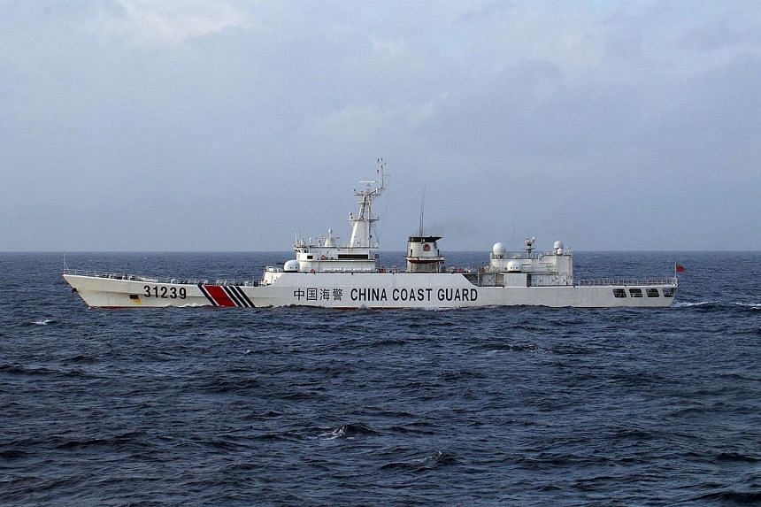 A Chinese Coast Guard ship near disputed islets, known as the Senkaku islands in Japan and Diaoyu islands in China, in the East China Sea.
