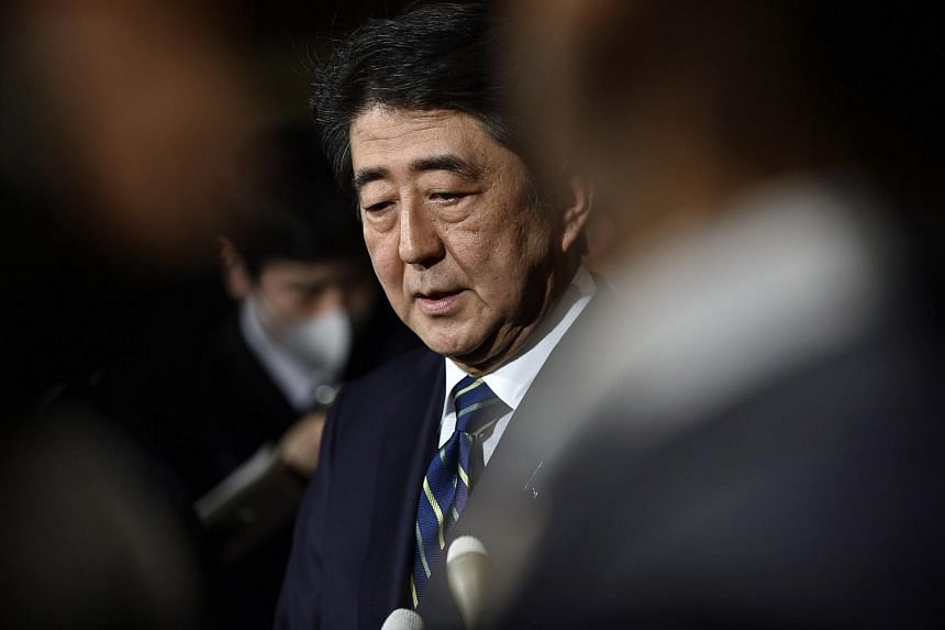 """Japanese Prime Minister Shinzo Abe said he was """"not thinking at all"""" about dissolving the lower house and calling a snap election."""