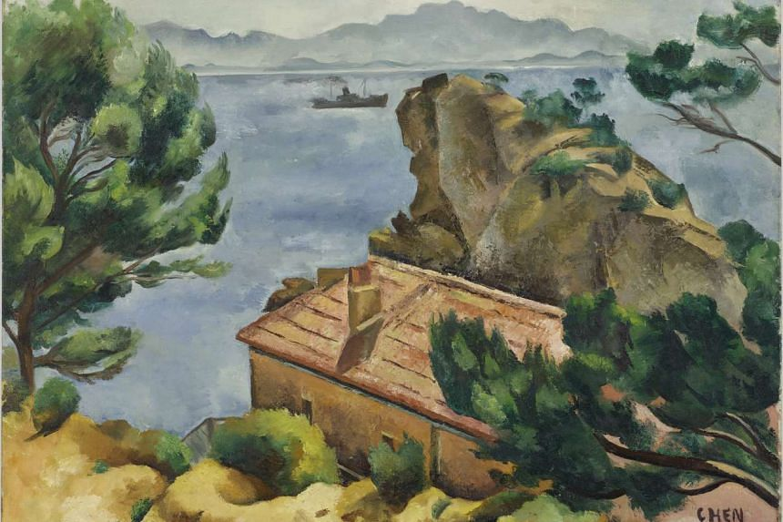 Landscape (above), by pioneer Singapore artist Georgette Chen, is in the collection of Centre Pompidou.