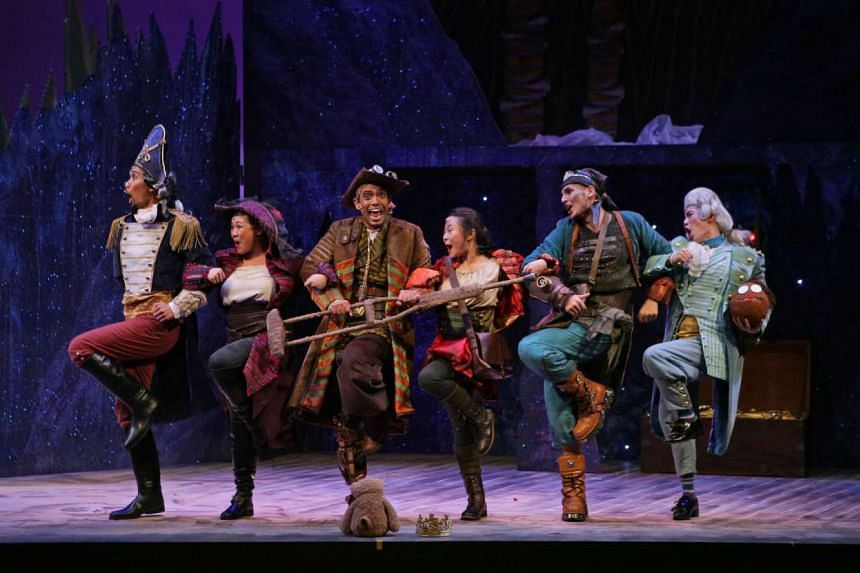 Treasure Island (above) by Singapore Repertory Theatre's The Little Company is a musical adaptation of the Robert Louis Stevenson classic.