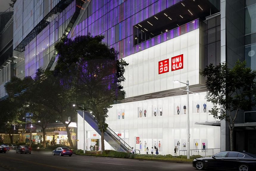An artist's impression of the new Uniqlo global flagship store in Singapore.