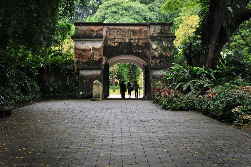 The Fort Gate at Fort Canning.
