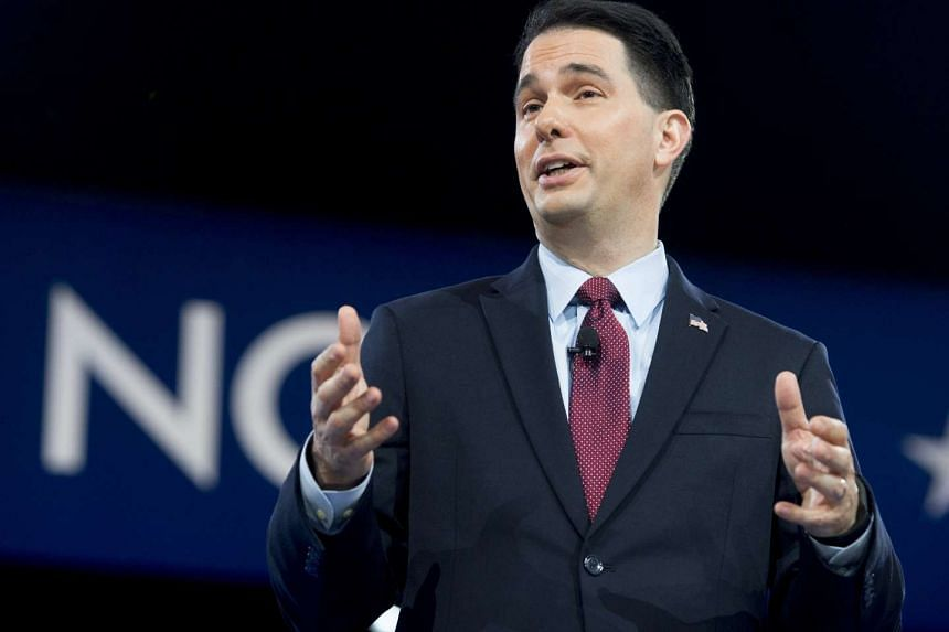 Wisconsin Governor Scott Walker speaks at the American Conservative Union 2016 annual conference in Maryland, on March 3, 2016.