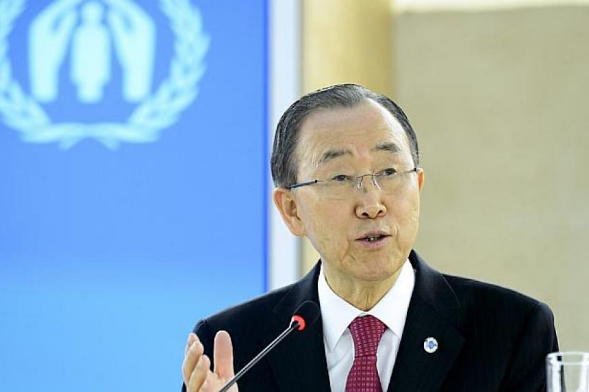 UN chief Ban Ki Moon has called for a united global effort to tackle the Syrian refugee crisis.