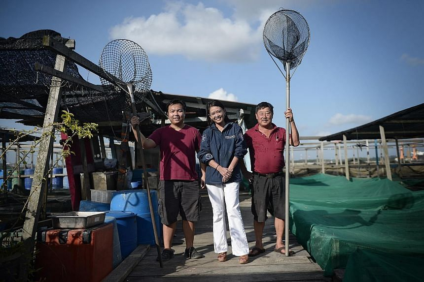 Hoping for a fruitful collaboration are (from right) Ah Hua Kelong owner Teh Aik Hua, Fassler Gourmet CEO Mellissa Chen and Ah Hua Kelong marketing director Bryan Ang. Ah Hua Kelong is believed to be the first to roll out locally farmed smoked fish.