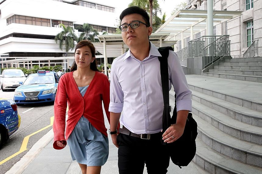 """At Yang's (right) trial, a police witness said he does not believe Takagi (left) """"knows these (Hokkien) vulgarities""""."""