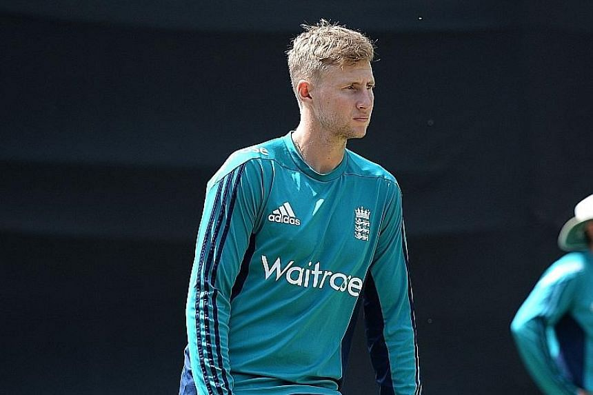 Joe Root waiting to bat at the nets in New Delhi yesterday. His total of 168 runs in the World T20 so far is the second-highest tally of the tournament.