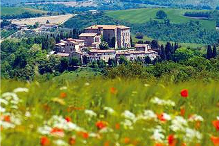 A view of Sismano village, which surrounds the Umbrian Castle put up for sale. The price? US$8.3 million (S$11 million).