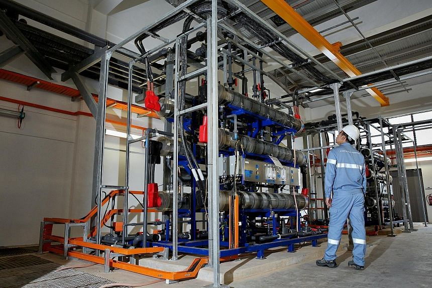 A water membrane system installed by Cyclect in a factory in Singapore. Mr Tan, Cyclect's chief executive officer, said IE Singapore helped his company start an office in Yangon, Myanmar, in 2013, and helped it understand the market's risks, dynamics