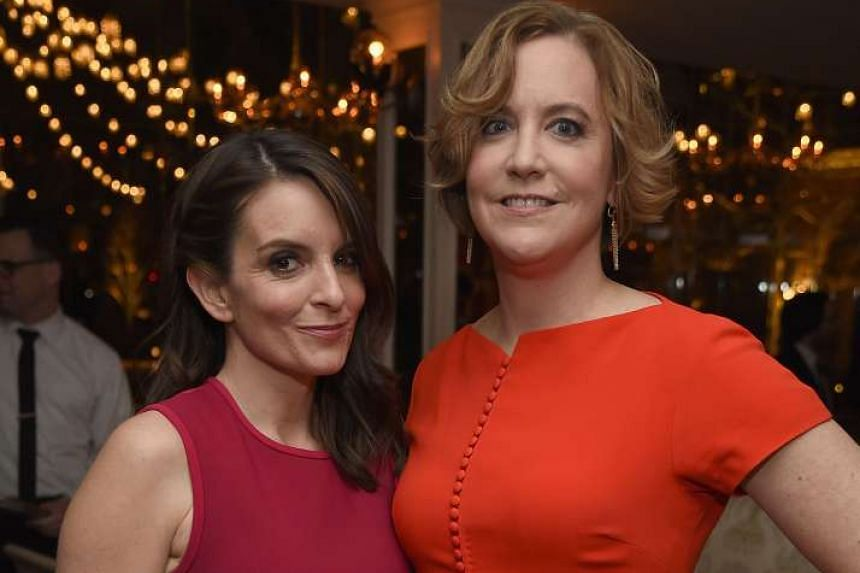 Journalist Kim Barker's (right) memoir inspired the film, Whiskey Tango Foxtrot, which stars actress Tina Fey (left).