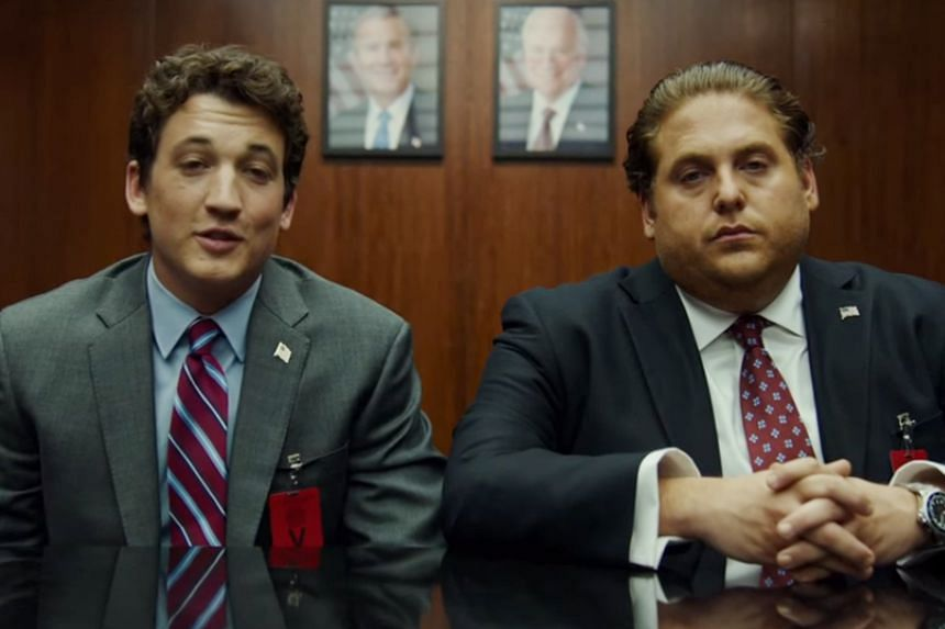 Jonah Hill (above right) and Miles Teller (above left).