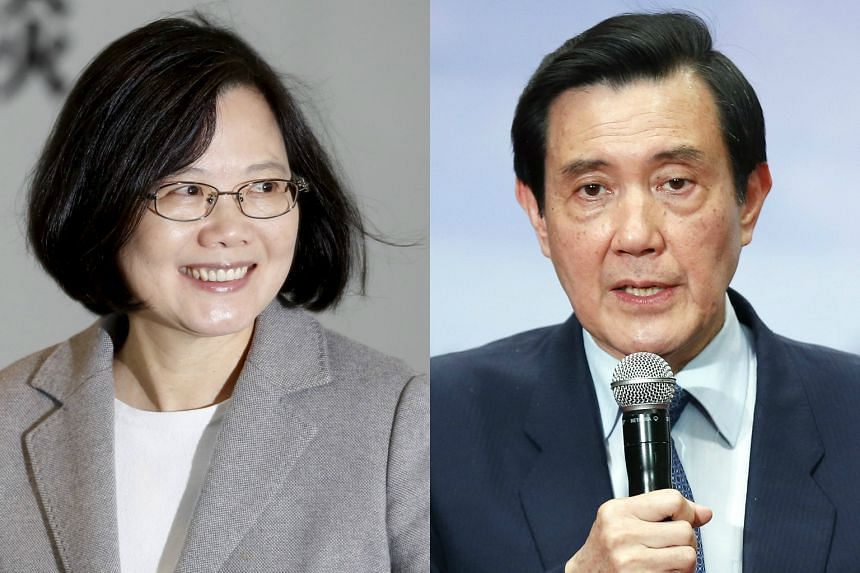 Taiwan President Ma Ying-jeou (right) and incoming President Tsai Ing-wen have pledged to set aside their partisan differences to work on a smooth transition of power.