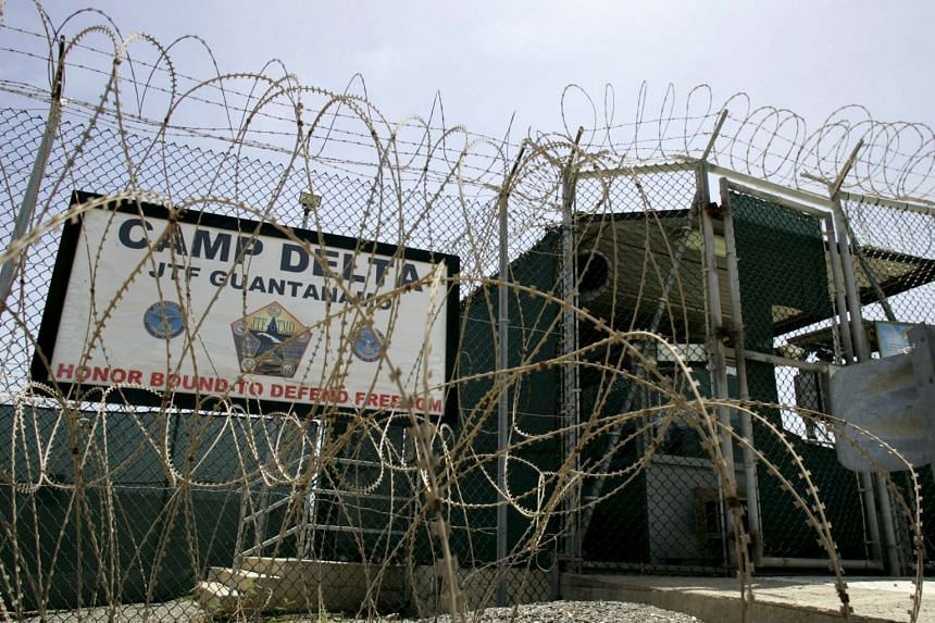 The front gate of Camp Delta is shown at the Guantanamo Bay Naval Station in Guantanamo Bay, Cuba.