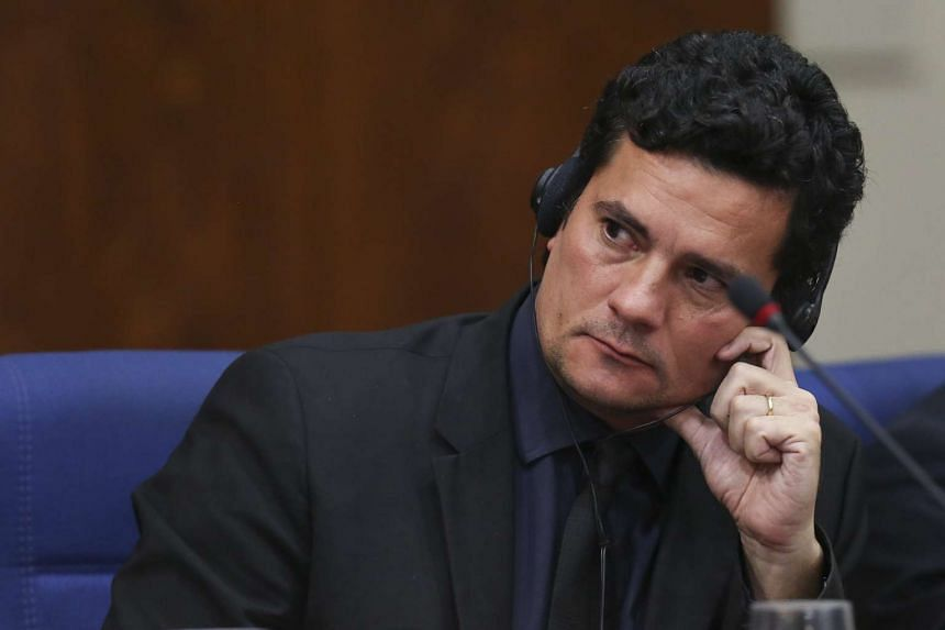 Brazilian federal judge, Sergio Moro, presiding over the ongoing Petrobras corruption case and the so-called Operation Lava Jato (Operation Car Wash), takes part in a conference on strategies against corruption, in Sao Paulo, Brazil, on March 29, 201