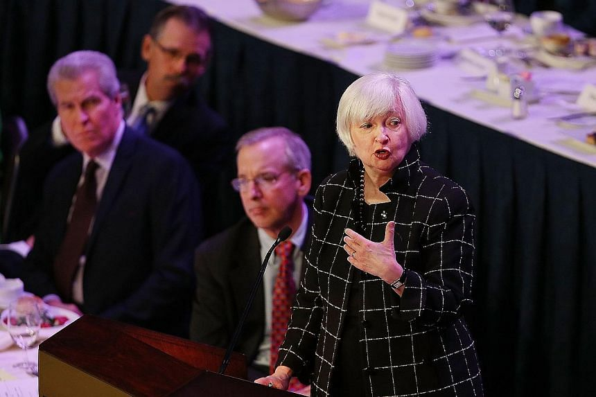 "Federal Reserve chair Dr Yellen reiterated a need to ""proceed cautiously"" in lifting rates."