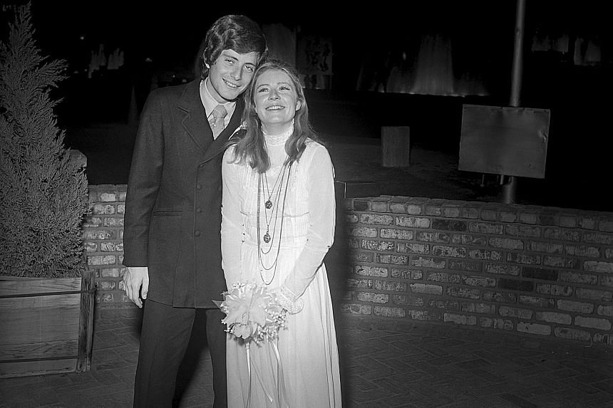 PATTY DUKE, on her website. The actress in 2010 during a The Patty Duke Show reunion and with her second husband Michael Tell (above) in 1970