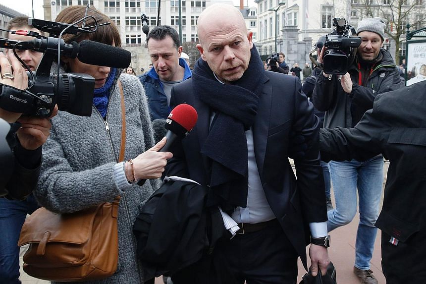 Sven Mary, Salah Abdeslam's lawyer, arrives at the Council Chamber of Brussels on March 24, during investigations into the Paris and Brussels terror attacks.
