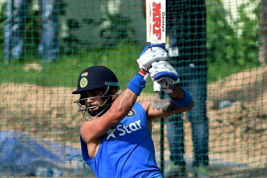 Danger men Virat Kohli (above) of India, batting in the nets during training, and West Indies' Chris Gayle are likely to be their respective sides' key men in the semi-final clash in Mumbai today.