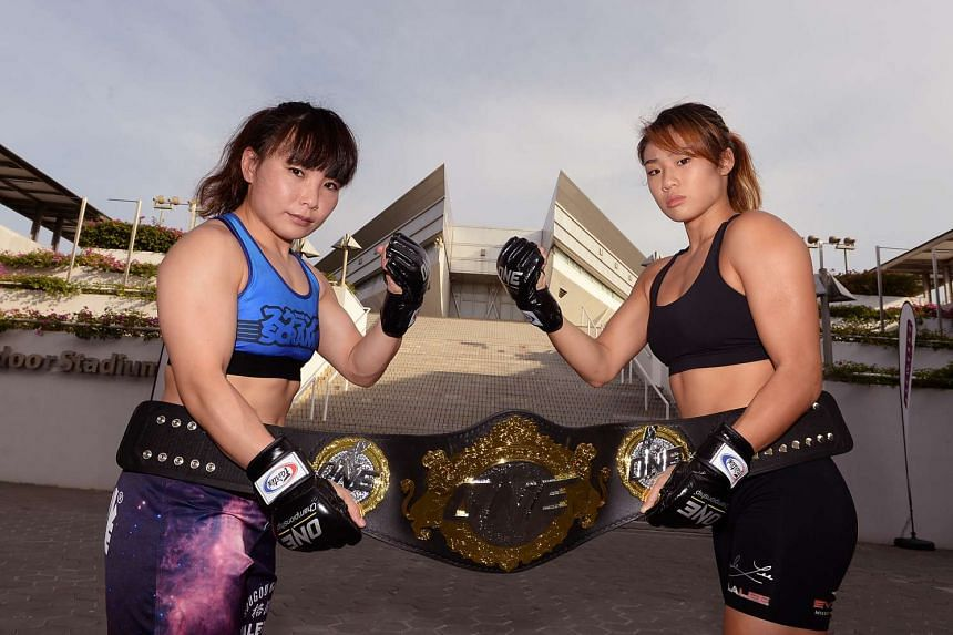 Angela Lee (right) will take on Japan's Mei Yamaguchi (left) for ONE Championship's first-ever women's title fight on May 6, 2016.