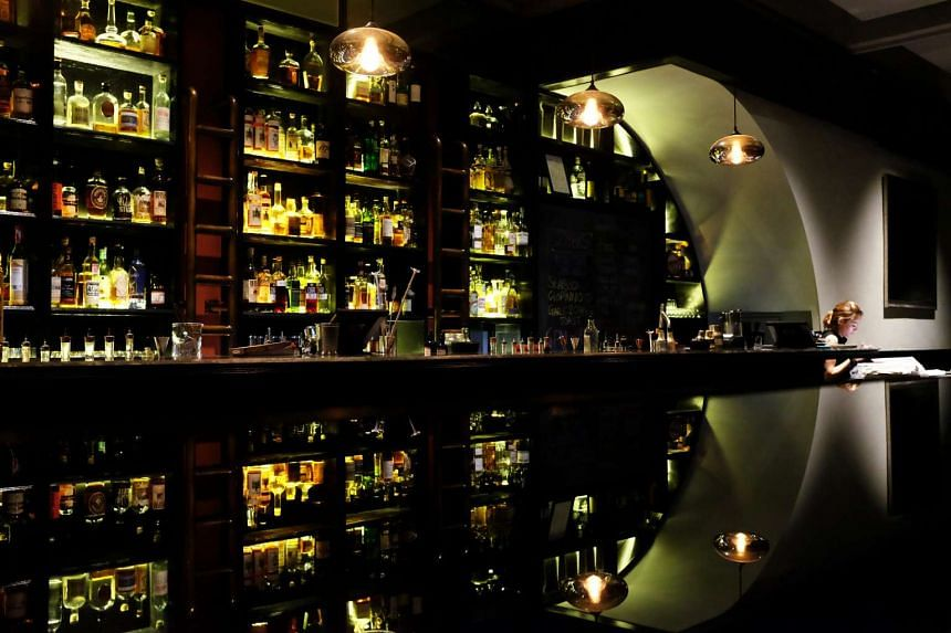 The interior of the 28 Hong Kong Street bar near Boat Quay, which was crowned the best bar in Asia by Drinks International.