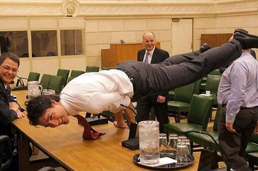 Canadian PM Justin Trudeau's athleticism can be seen on his Twitter and Instagram accounts.