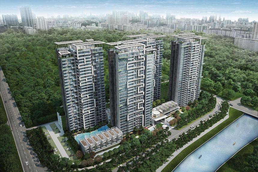 Eight Riversuites in Whampoa East, one of the larger condominiums being completed this year.