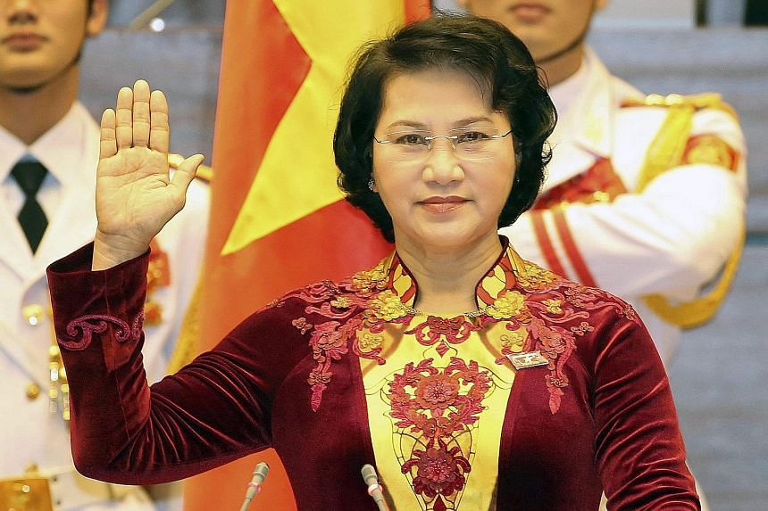 Ms Ngan, 61, a veteran lawmaker and senior Communist Party official, was elected with 95.5 per cent of the vote. There were no other candidates on the ballot paper.