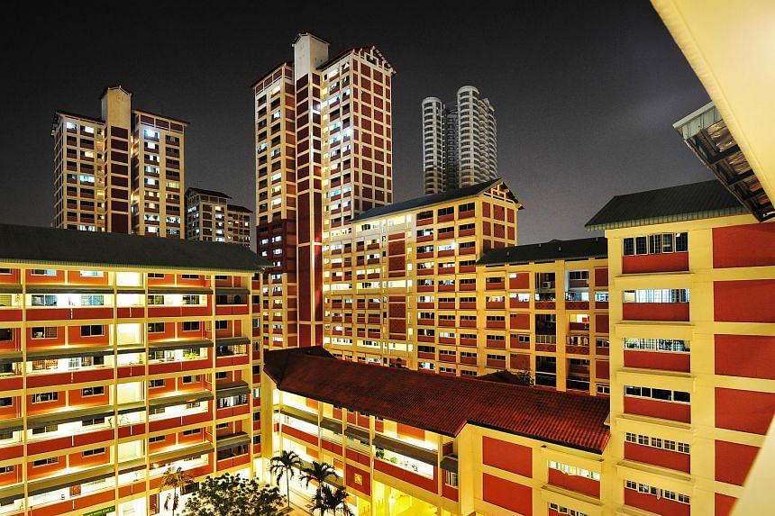 Bishan housing estate at night. About 840,000 Singaporean HDB households will receive the next instalment of the GST Voucher - Utilities-Save rebates in April.