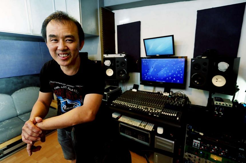 TNT studios, one of the oldest jamming studios in town, and its owner Ah Boy.