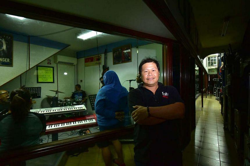 Wee Lee Music Centre's owner Sam Ng.