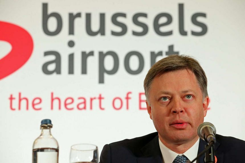 Brussels Airport CEO Arnaud Feist gives a press conference regarding the reopening of Brussels Airport, in Zaventem, on April 2, 2016.