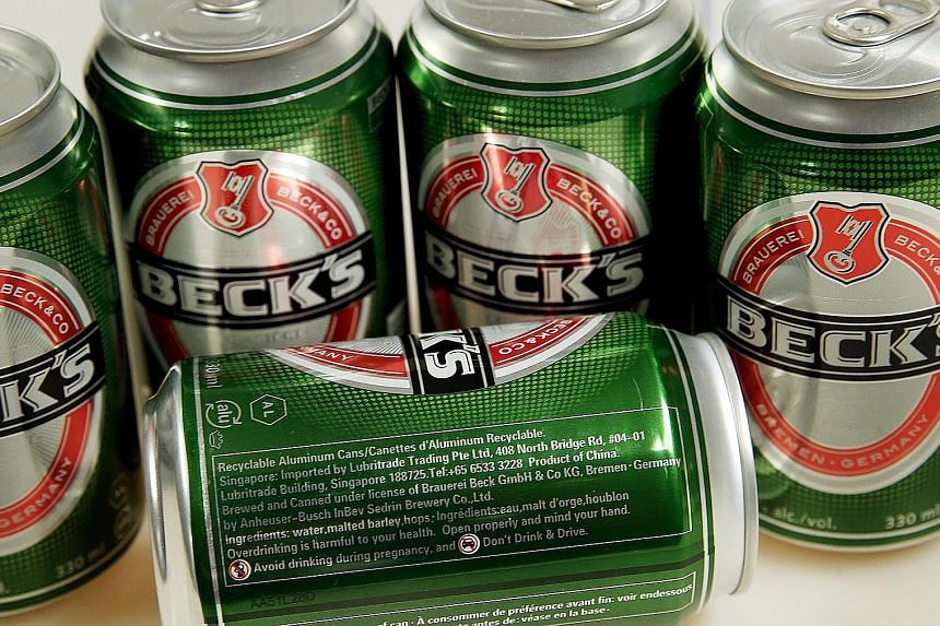 Beck's distributor Carlsberg Singapore says the fine print on each 330ml can makes clear it is brewed in China as it is labelled as a product of China.