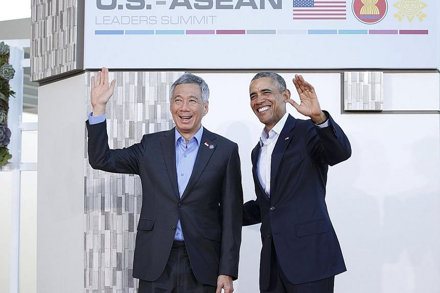 PM Lee and President Obama at Sunnylands in February. PM Lee was in Washington this week for a nuclear security summit. The front pages of newspapers carrying former Cuban leader Fidel Castro's article on Mr Obama's visit, published on Monday. Syrian