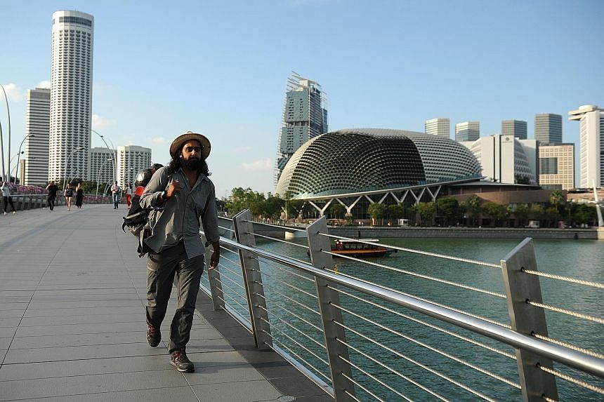 After traversing 17 countries, Mr Bhogal crossed the Causeway from Johor Baru into Singapore on March 25, and is here for a fortnight. He plans to travel another 6,500km before reaching Cardiff in New South Wales, Australia, in November.