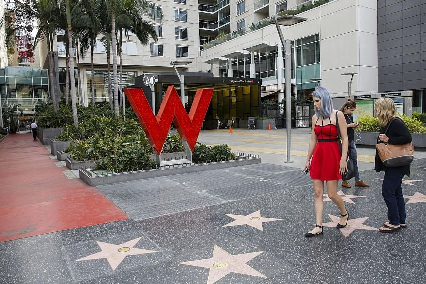 The W Hotel Hollywood in California, part of the US Starwood chain which Chinese insurance giant Anbang had been courting, until yesterday.